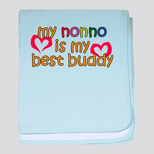 Nonno is My Best Buddy baby blanket